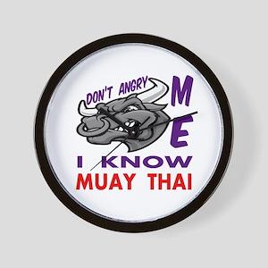 I know Muay Thai Wall Clock