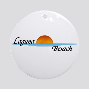 Laguna Beach Sunset Ornament (Round)