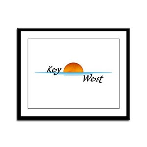 Key West Sunset Framed Panel Print