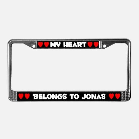 My Heart: Jonas (#001) License Plate Frame
