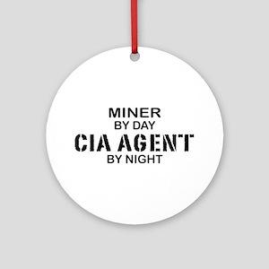 Miner CIA Agent Ornament (Round)