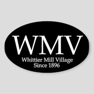 Whittier Mill Oval Bumper Sticker