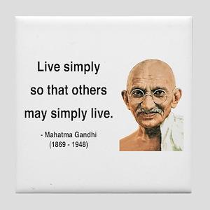 Gandhi 13 Tile Coaster