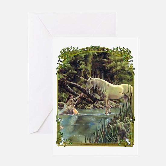 Unicorn in Woods Greeting Card