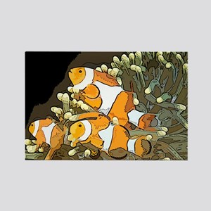 Clown Fish Rectangle Magnet