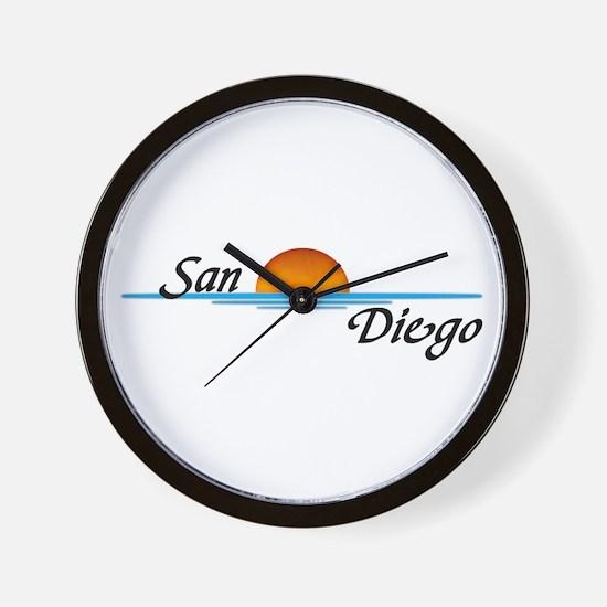 San Diego Sunset Wall Clock