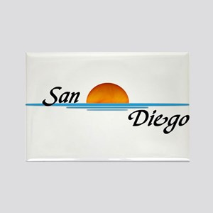 San Diego Sunset Rectangle Magnet