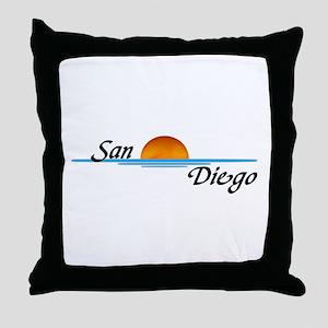 San Diego Sunset Throw Pillow