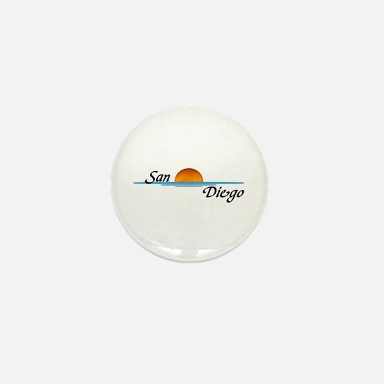 San Diego Sunset Mini Button