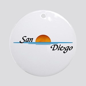 San Diego Sunset Ornament (Round)
