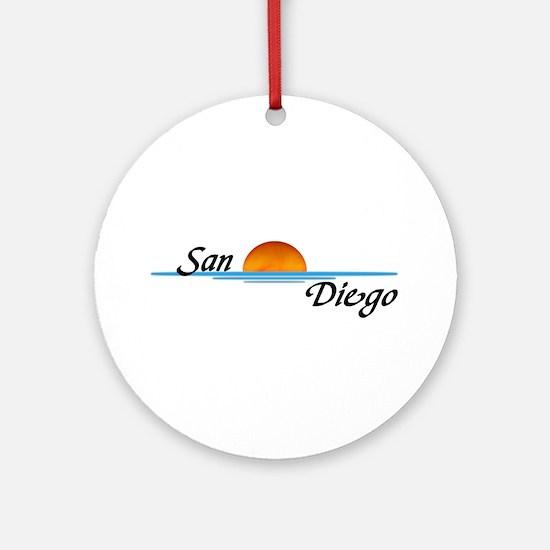 San Diego Sunset Ornament (Round)
