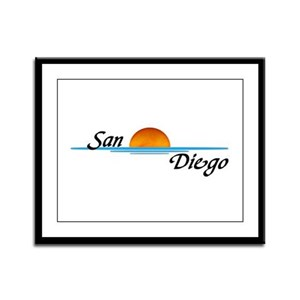 San Diego Sunset Framed Panel Print