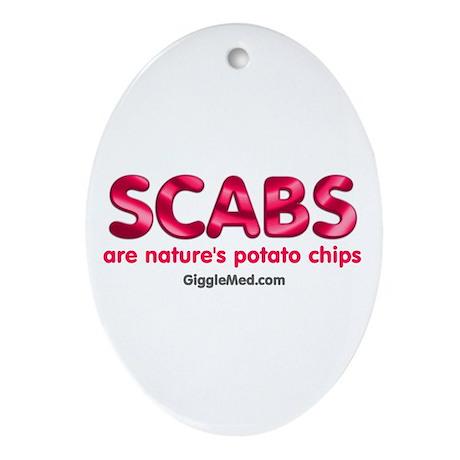 Scab Potato Chips Oval Ornament