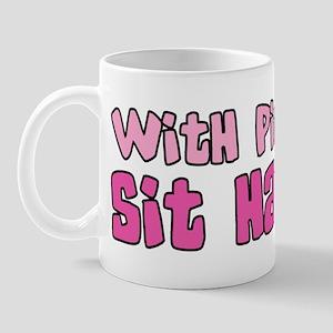 With Pit Bulls... Sit Happens Mug