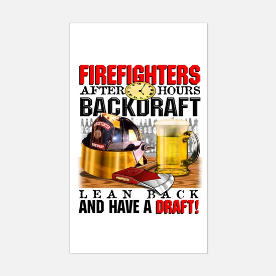 FIREFIGHTERS BACKDRAFT Rectangle Decal