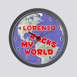 Lorenzo Rocks My World (Red) Wall Clock