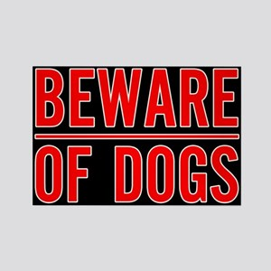 Beware of Dogs(Black) Rectangle Magnet