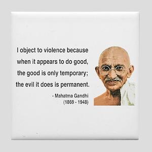 Gandhi 14 Tile Coaster