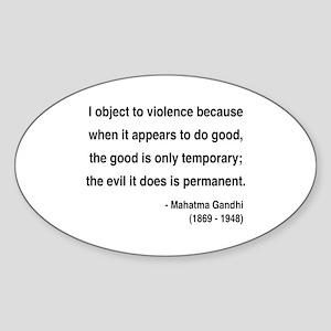 Gandhi 14 Oval Sticker