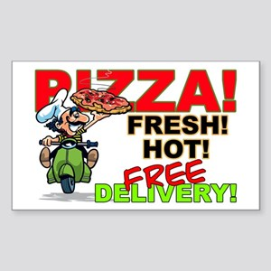 Pizza Sign Rectangle Sticker