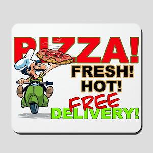 Pizza Sign Mousepad