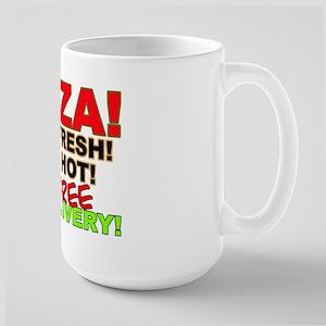 Pizza Sign Large Mug