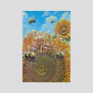 Bee Faerie Rectangle Magnet