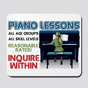 Piano Lessons Sign Mousepad