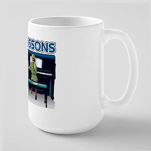Piano Lessons Sign Large Mug