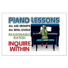 Piano Lessons Sign Large Poster