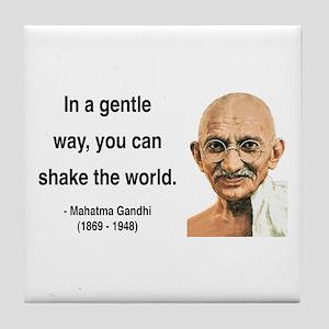 Gandhi 15 Tile Coaster