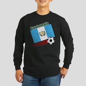 Guatemala Soccer Team Long Sleeve Dark T-Shirt