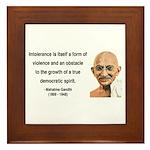 Gandhi 16 Framed Tile