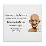 Gandhi 16 Tile Coaster