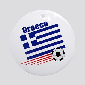 Greece Soccer Team Ornament (Round)