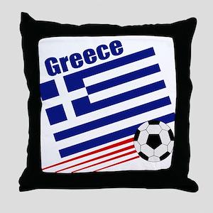 Greece Soccer Team Throw Pillow