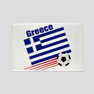 Greece Soccer Team Rectangle Magnet