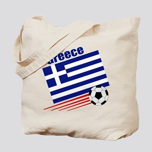 Greece Soccer Team Tote Bag