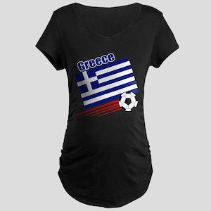 Greece Soccer Team Maternity Dark T-Shirt