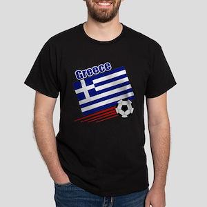 Greece Soccer Team Dark T-Shirt