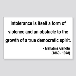 Gandhi 16 Rectangle Sticker