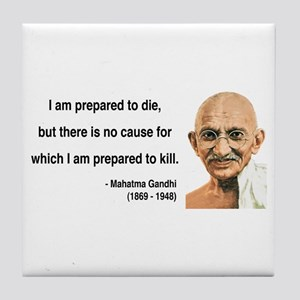 Gandhi 17 Tile Coaster