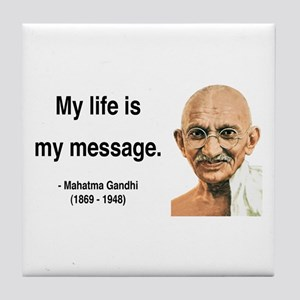 Gandhi 18 Tile Coaster