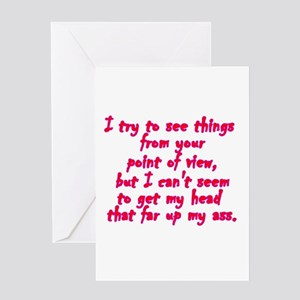 Insulting greeting cards cafepress point of view greeting cards m4hsunfo
