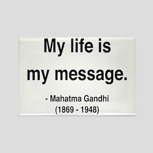 Gandhi 18 Rectangle Magnet
