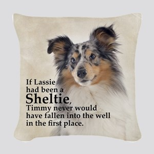 Timmys Sheltie Woven Throw Pillow