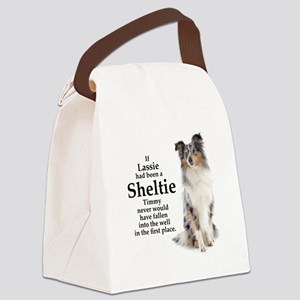 Timmys Sheltie Canvas Lunch Bag