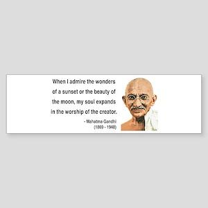 Gandhi 19 Bumper Sticker