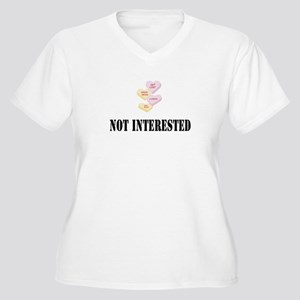 Not Interested Women's Plus Size V-Neck T-Shirt