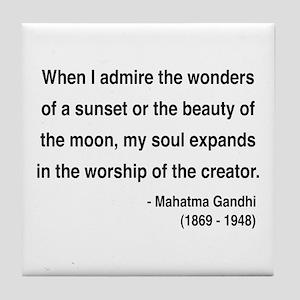 Gandhi 19 Tile Coaster